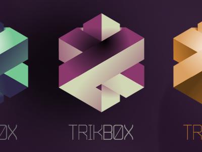 Trikbox logo branding cube