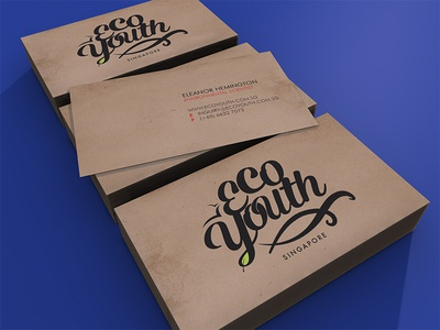 """EcoYouth"" Business Cards"