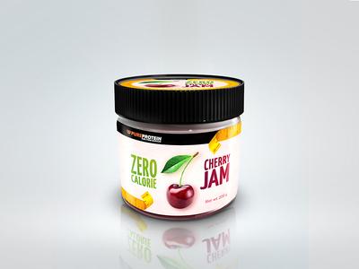 Pure Protein logo sport nutrition jar package identity