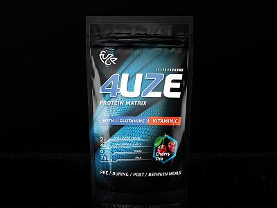 4UZE / Fuze logo 4uze nutrition sport package identity