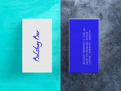 Bolshoy Bar card business bar identity logo