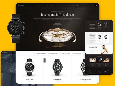 Design for Watch e-commerce store website slider ui header design landing e-commerce design graphic desing web design