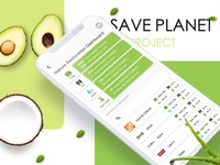 Design for mobile app that save planet modern clean green web design ui ios app design app mobile design