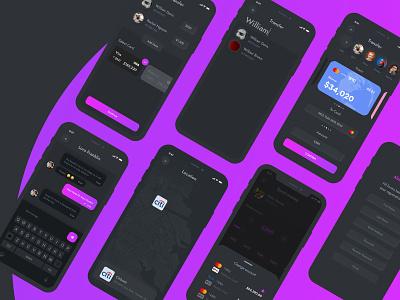 Wallet App Design in Neumorphism style ios ui app ui payment app bank app wallet neumorphic app design neumorphism design app