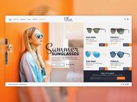 Sunglasses website design