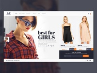 eCommerce website design with horizontal scroll