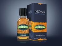 """moabi"" e-liquide package redesign"