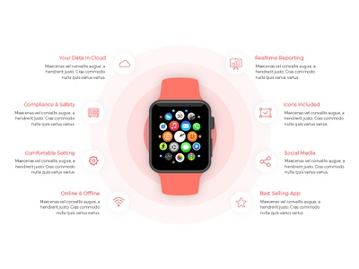 Apple Watch app section (landing page design) landing design landing page design web design design watch apple apple watch landing page landing