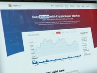 Cryptocurrency website prototype