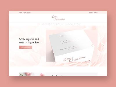 Website design for Shopify e-commerce web design ui header website design minimal light pink homepage e-commerce shopify website