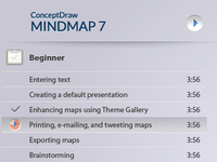 Video lessons sidebar for conceptdraw.com video page