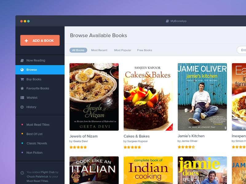 Book App PSD Mockup Freebie clean ui design minimal flat mac ios book app apps user interface freebie free psd