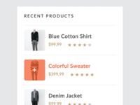 Recent Products widget