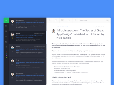 New Email App Freebie  clean app typography user interface mail mac client ux freebie email