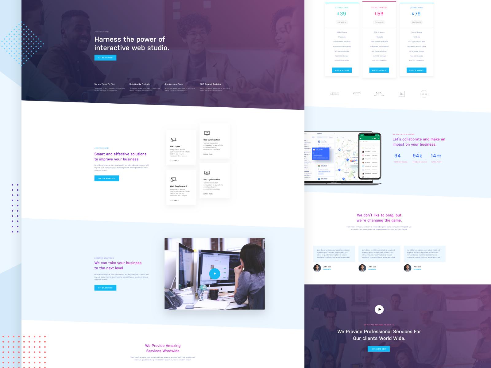 Simple Agency Website By Tarik P On Dribbble