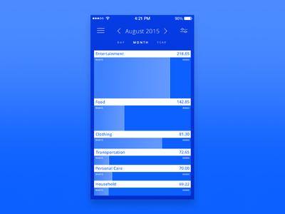Unused budgeting app sketch