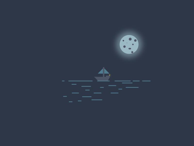 Sailor John blue comfy simple style cute simpel illustrator design minimal sails