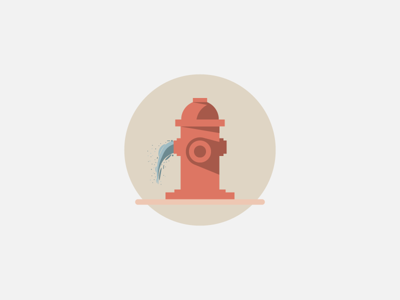 Fiya simple fire hydrant material design daily artwork challenge 5 colours experiment illustrator wallpaper design minimal
