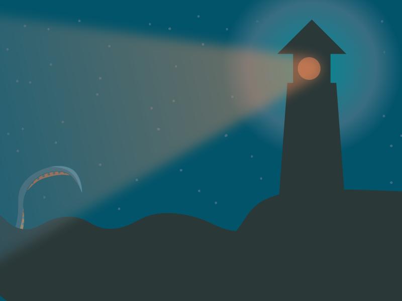 Lighthouse challenge daily artwork 5 colours simple minimal minimal design