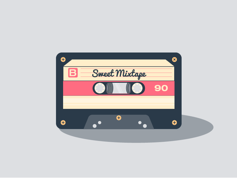 Sweet Mixtape cassette cute mixtape tumblr challenge shades 5 colours daily artwork