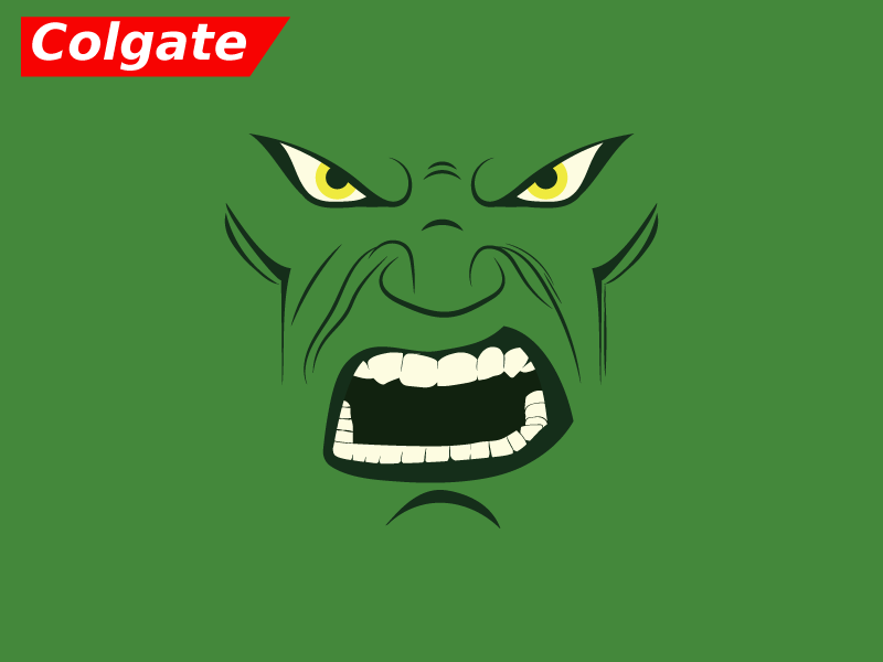 armed to the teeth parody colgate spec ad white hulk 5 colors minimal daily daily design daily artwork 5 colours simple