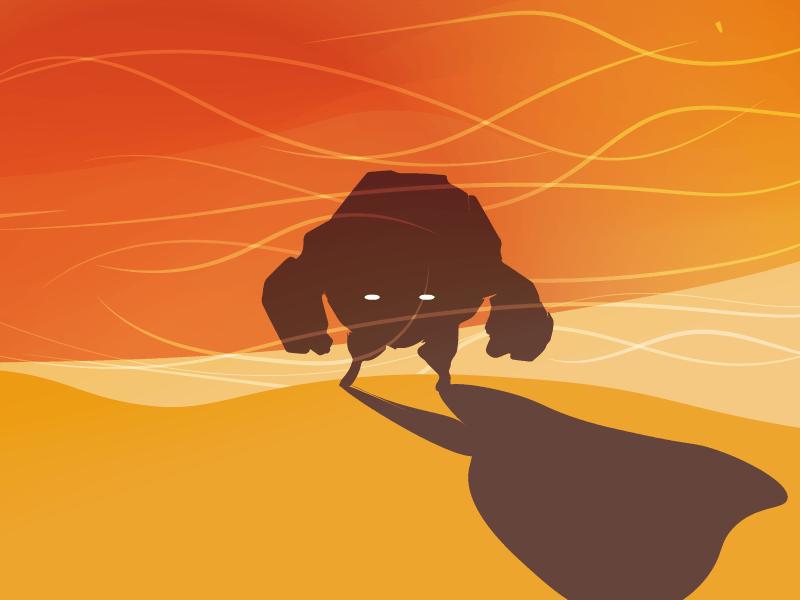 Sandy dessert desert bad ass cool silhouette sandy monster five colours flat minimal 5 colours simpel