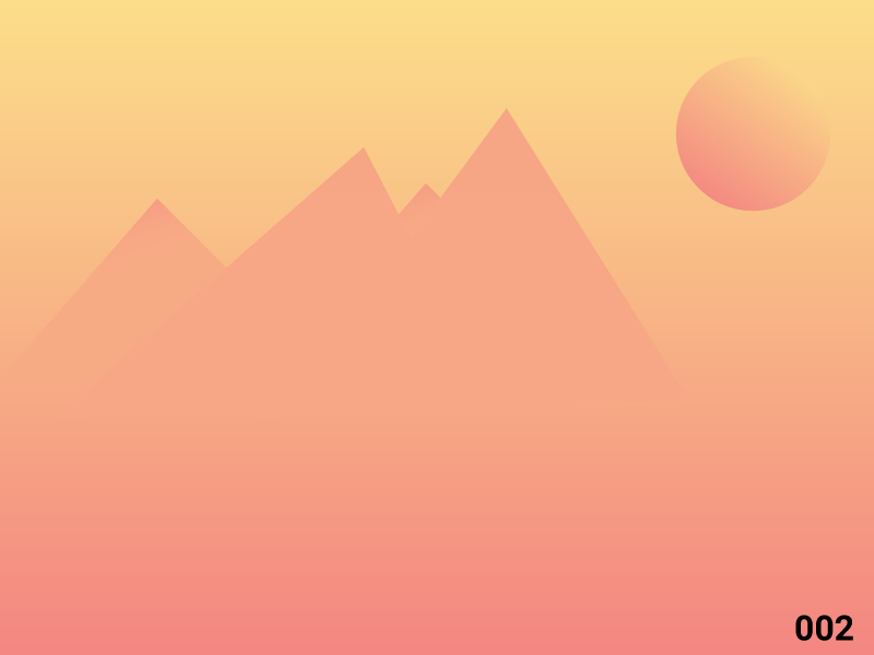 Mountains furiristic shadow flat simple design graphic minimal gradient