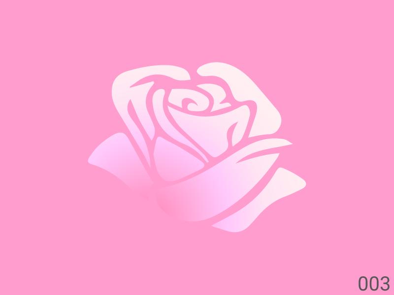 Roses shadow flat simple design graphic minimal gradient