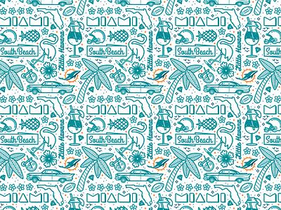 Miami Pattern  phinsup dolphins miami pattern illustration
