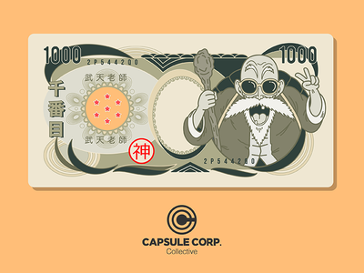 Master Roshi Zeni capsulecorpcollective dragonballz vector illustration