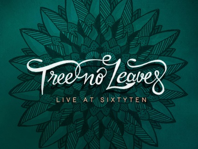 Tree No Leaves - On Teal