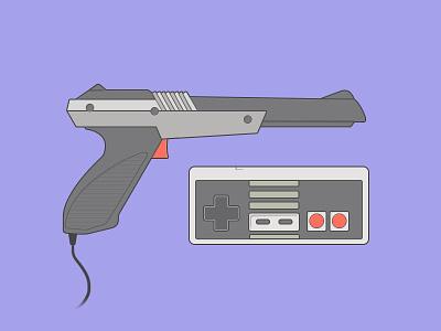 Zapper + Gamepad video games nintendo illustration
