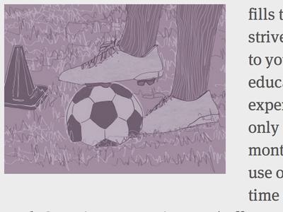 Timely Cognition Illustration cognition illustration monochrome purple soccer world cup