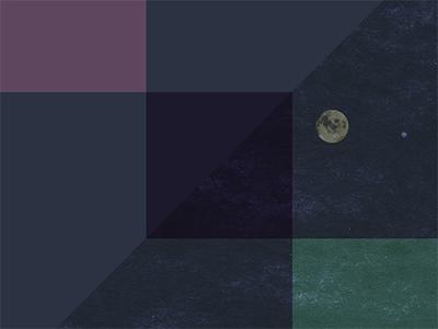 Moon Quilt night geometric moon