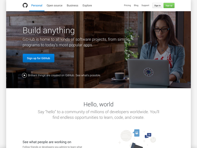 Build anything by Patrick Marsceill for GitHub on Dribbble