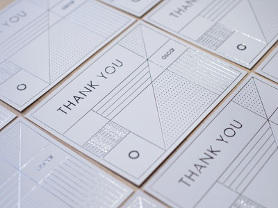 Thank You Cards foil stamping foil press silver foil hot foil thank you card thank you silver