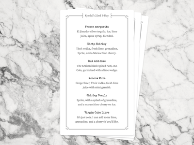 Drink menu figma print menu design cocktail menu card type cocktails menu