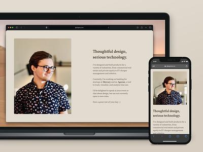 New year, new me draft website personal portfolio profile homepage