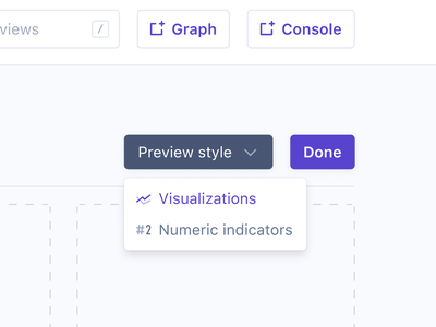 Preview style dropdown selected glyph hover glyph labels style preview selected dropdown selected state icons