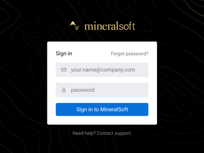 Authorization screen authenticate sign in page sign in form reset password sign in forgot password login
