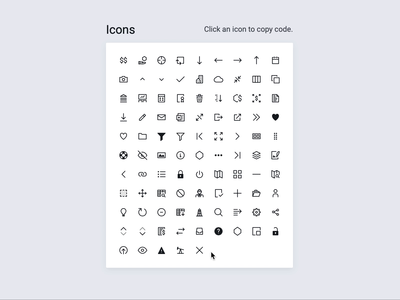 Icons react storybook hover figma icons