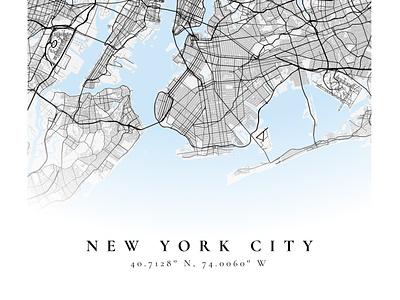 New York City poster map mapbox figma