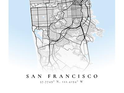 San Francisco mapbox figma poster map