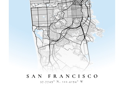 San Francisco mapbox figma poster map