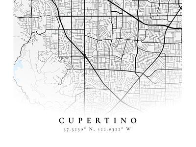 Cupertino poster mapbox figma maps