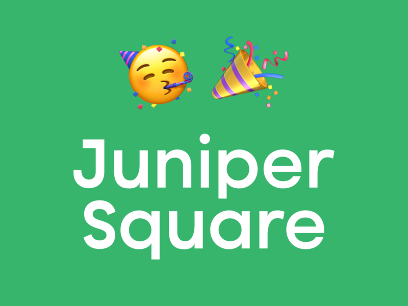 I've joined Juniper Square! career careers product design juniper square new role