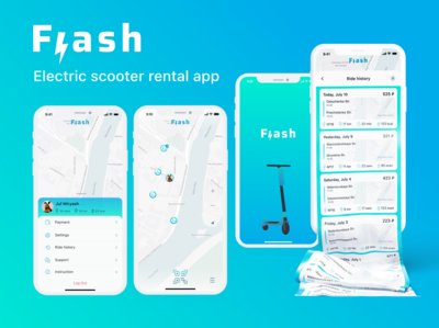 Electric Scooter Rental App rent
