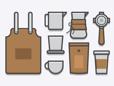 Coffee and Barista Icon Set