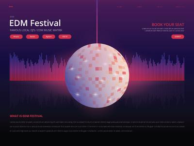 EDM Festival UI Interface