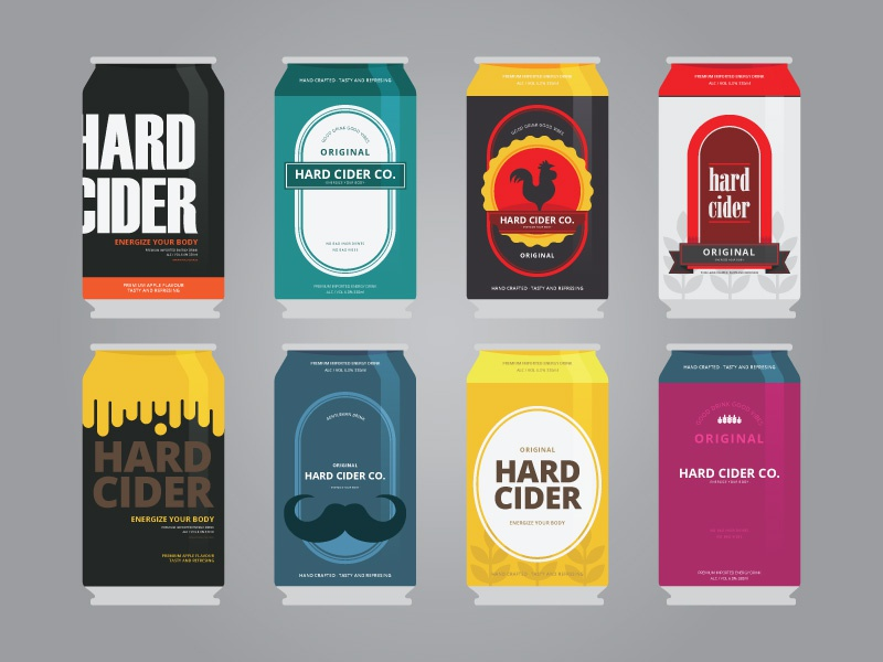 Cider Can Design Template promotional material promotion marketing flat business drink holiday fresh summer soda can template fermented can soda template cider tequila beer alcohol hard cider